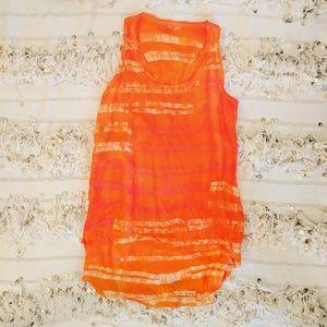 Ma+ch Marika Calypso St Barth Orange Silk Tank